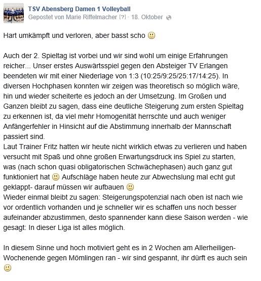 Facebook-Post 18.10.14