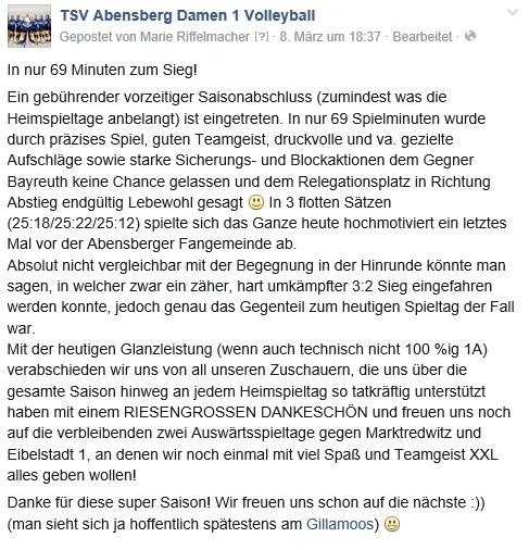 Facebook-Post 08.03.15