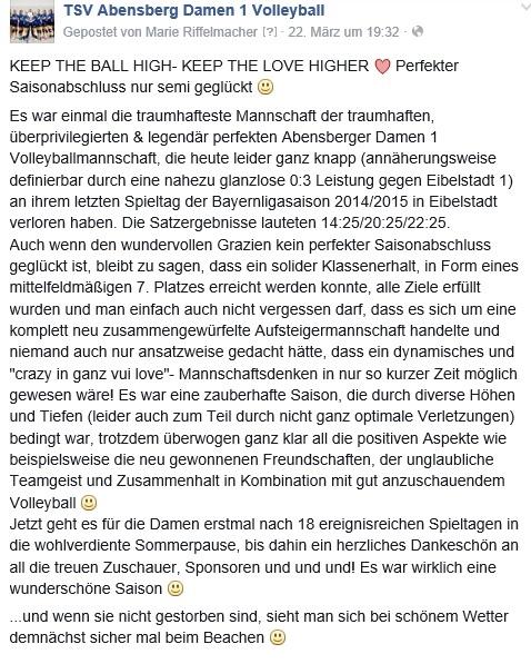 Facebook-Post 22.03.15