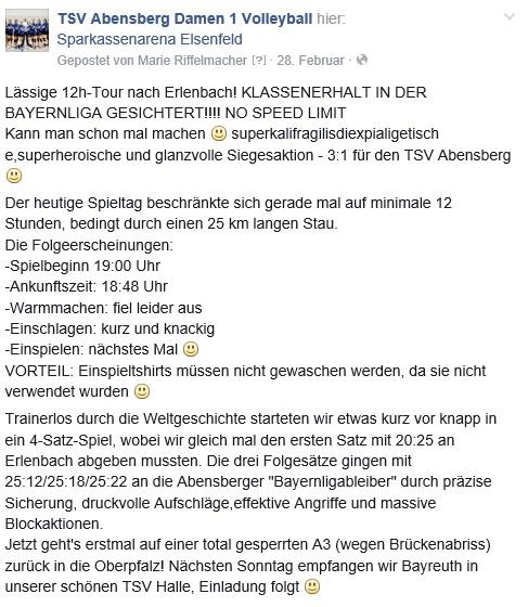 Facebook-Post 28.02.15
